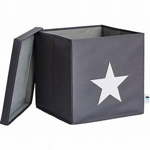 Ordnungsbox Mit Deckel : ordnungsbox stern mit stabilem deckel grau wei store it mytoys ~ Udekor.club Haus und Dekorationen