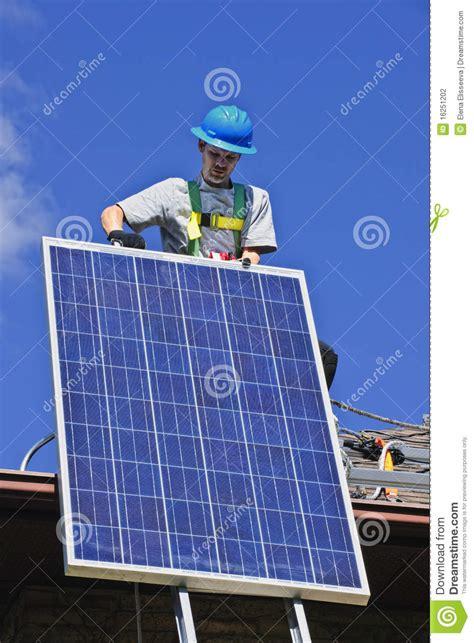 Resume Solar Panel Installer by Solar Panel Installation Stock Photography Image 16251202