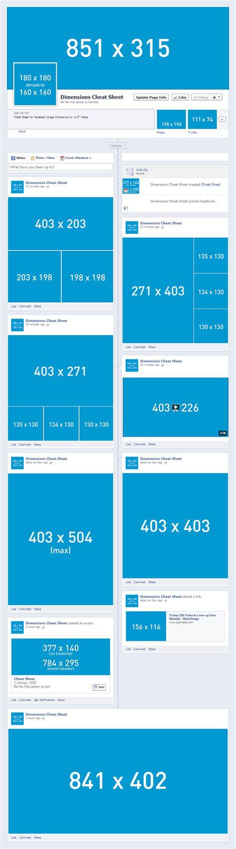 Image Size For Post Social Media Image Dimensions Sheet Design