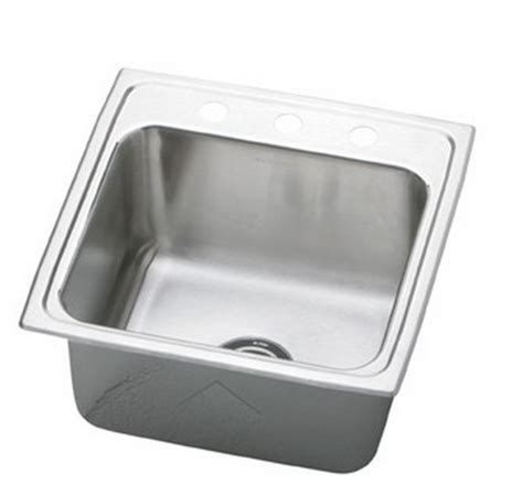 16 stainless steel kitchen sink top mount elkay dlr1716101 lustertone stainless steel 17 l x 16 w x 9876