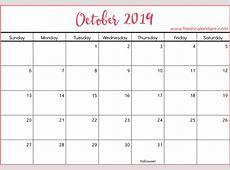 Printable October 2019 Calendar Fresh Calendars