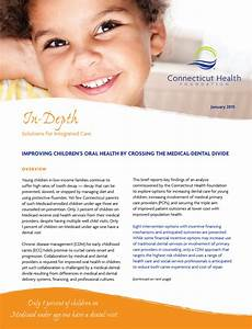 Improving Children's Oral Health by Crossing the Medical ...