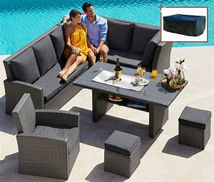 Lounge Set Mit Esstisch : loungeset santorini premium 20 tlg eckbank sessel 2 hocker tisch polyrattan online ~ Bigdaddyawards.com Haus und Dekorationen