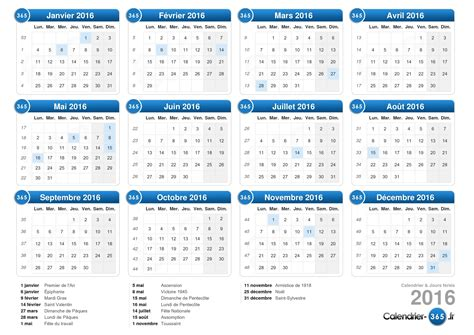 calendrier de t