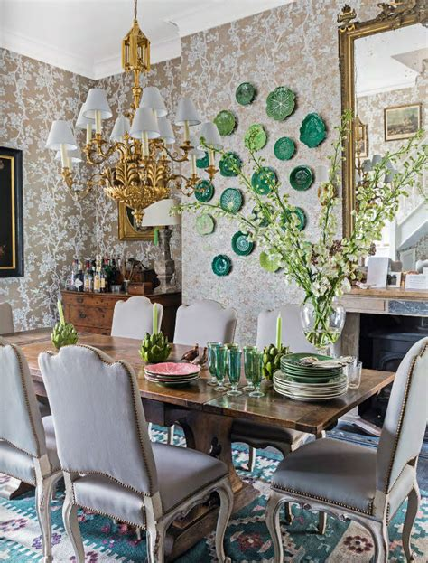 traditional garden dining room style interiors  color