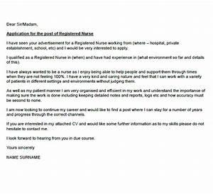 Cover Letter For Job Example Registered Nurse Cover Letter Example Icover Org Uk