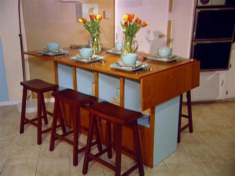 build  bar height dining table hgtv