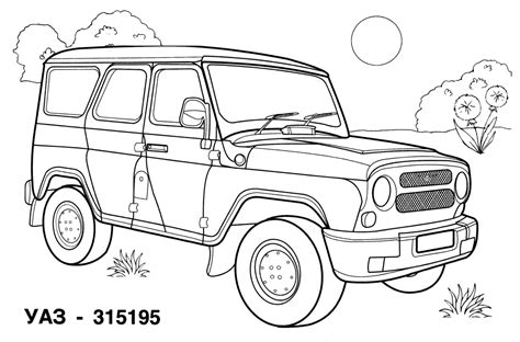Guido is happy coloring page from disney cars category. Car Coloring Pages | Coloringpages4kidz.com