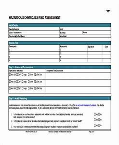 risk assessment form template With chemical risk assessment template