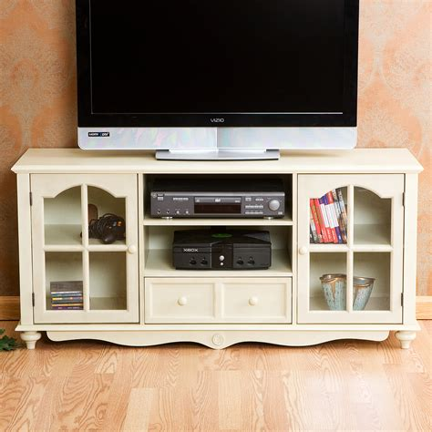 shabby chic media cabinet shabby cottage chic style 52 quot tv entertainment cabinet media center stand new ebay