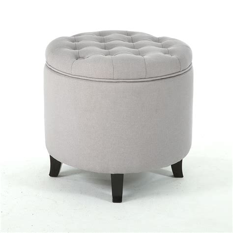New Large Round Tufted Ottoman Footstool Seat Living Room. Broyhill Planter. Multi Use Furniture. Firepit Chairs. New Shower. Savannah Hardscapes. Mirrored End Table. Thompson Building Materials. Brick Kitchen Backsplash
