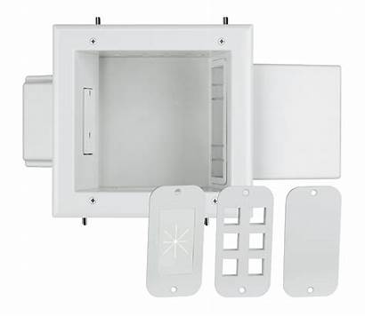 Expandable Recessed Datacomm Electronics Plate Wh Receptacle