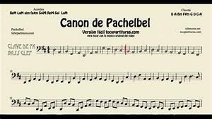 Canon de Pachelbel en D Partitura de Clave de Fa Trombón Chelo Fagot Tuba Bombardino YouTube