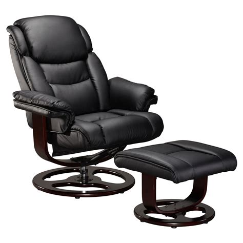 recliner office chair vienna real leather swivel recliner chair w foot stool