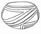Coloring Pottery Pot Casas Grandes sketch template