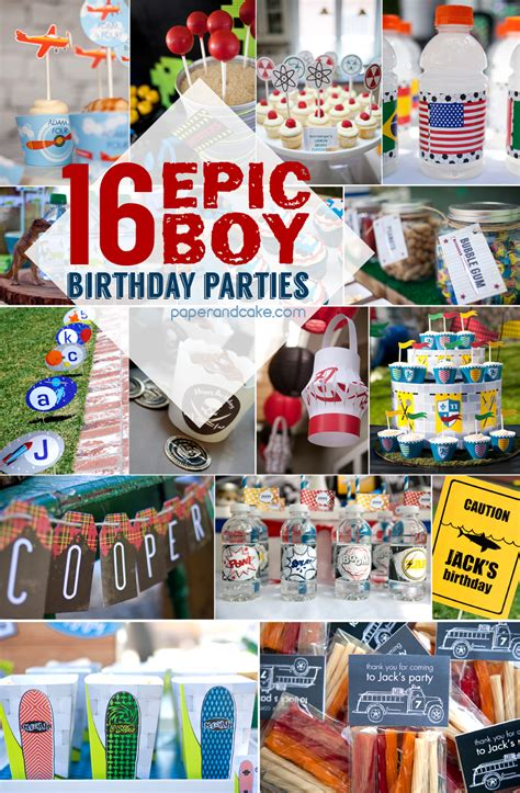 boy party ideas paper  cake paper  cake