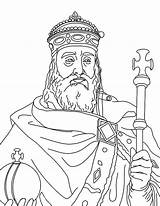 Coloring Charlemagne King Clipart Cliparts Colouring Kidsplaycolor Ages Middle Sheets Printable Library Barbie sketch template