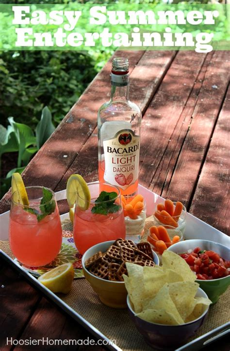 Easy Summer Entertaining With Bacardi  Hoosier Homemade