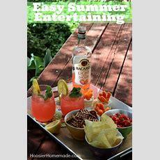 Easy Summer Entertaining With Bacardi  Hoosier Homemade