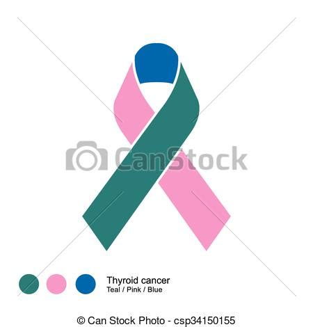color for thyroid cancer thyroid cancer ribbon image of awareness ribbons color