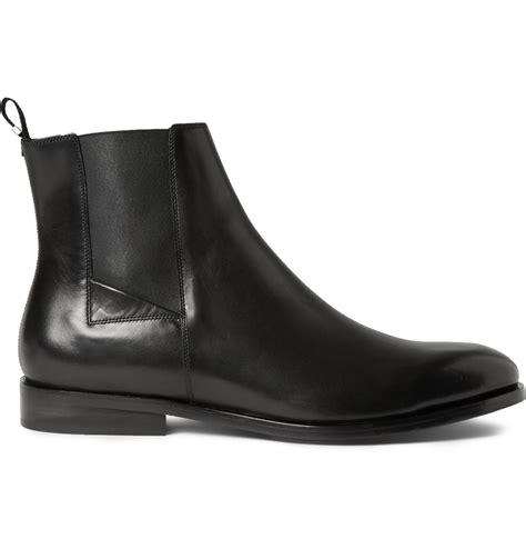 balenciaga leather chelsea boots  black  men lyst