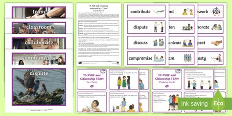 * New * Pshe And Citizenship  Y5 Team  Additional Resources Pshce