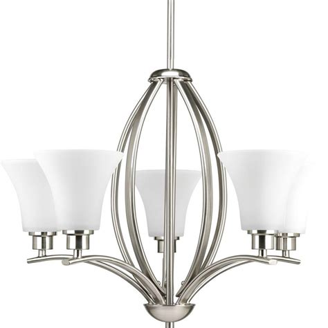 Chandeliers Lighting Collections by Progress Lighting Collection 5 Light Brushed Nickel