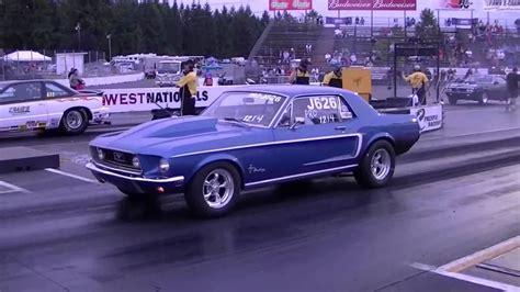 1968 Ford Mustang Drag Racing Runs 11.9 @ 109 Mph