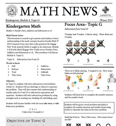 Grade 3 Module 1 Topic A Parent Newsletter Developed By 22 Best Eureka Parent Newsletter Images On