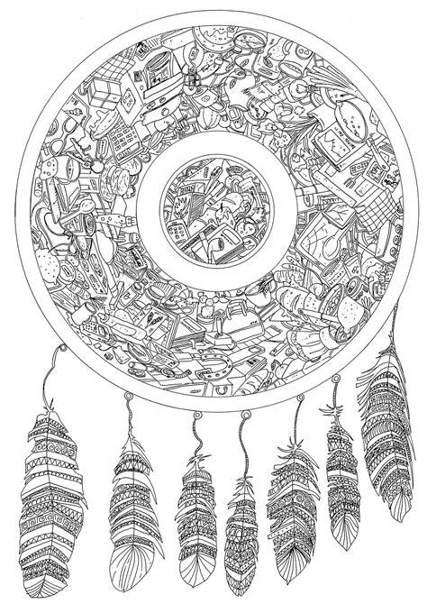 dreamcatcher  hidden objects dreamcatchers adult coloring pages