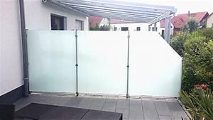 sichtschutz aus glas fur terrasse ck82 hitoiro With whirlpool garten mit glas sichtschutz balkon