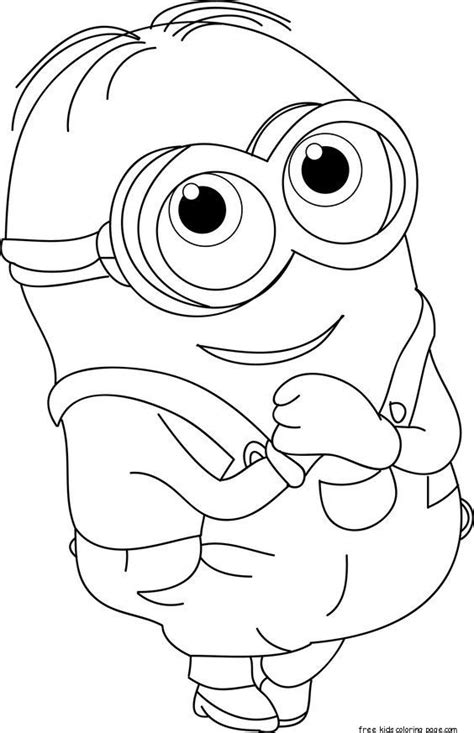 printable  minions dave coloring page  kidsfree