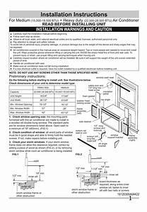 Frigidaire Ffre0833s1e0 Room Air Conditioner Installation