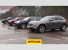 Porsche Cayenne v BMW X6 M v Infiniti FX v Range Rover