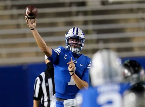 Wilson throws for 392 yards, No. 18 BYU routs Troy 48-7 ...