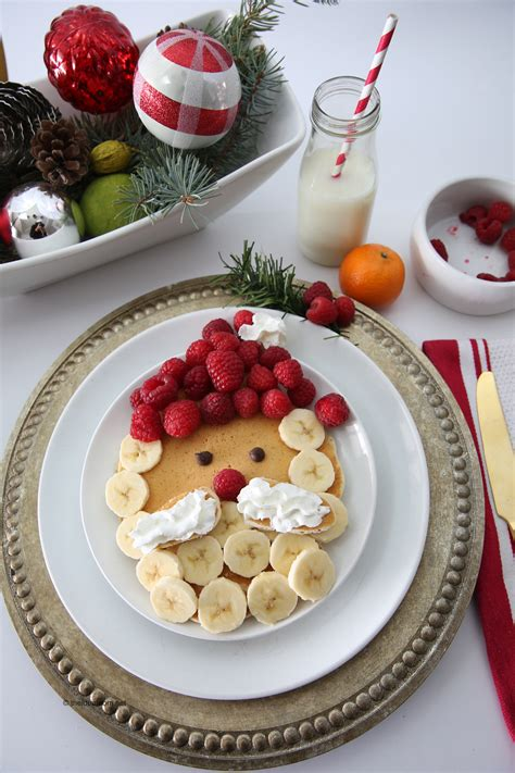 santa claus pancakes christmas breakfast recipe