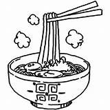 Ramen Eat Drawing Noodle Table Udon Soba Manners Eating Getdrawings sketch template