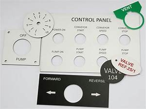 control panel labels custom made With control panel labels