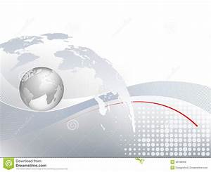 Global Business Background With World Map Stock Vector ...