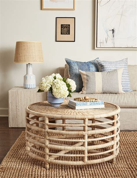 Home » coffee table » how to decorate a round coffee table. Montauk Natural Rattan Coffee Table in 2020 | Rattan coffee table, Home decor, Coffee table styling