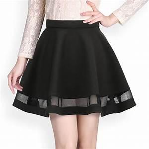 Fashion-Grid-Design-women-skirt-elastic-faldas-ladies-midi ...
