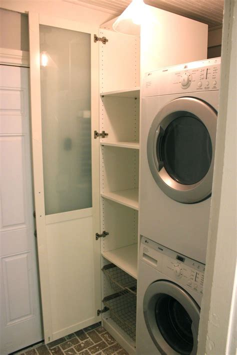 washer and dryer cabinet ideas cabinet for laundry ikea pax wardrobe great idea