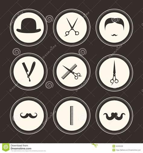 barber logos stock vector image