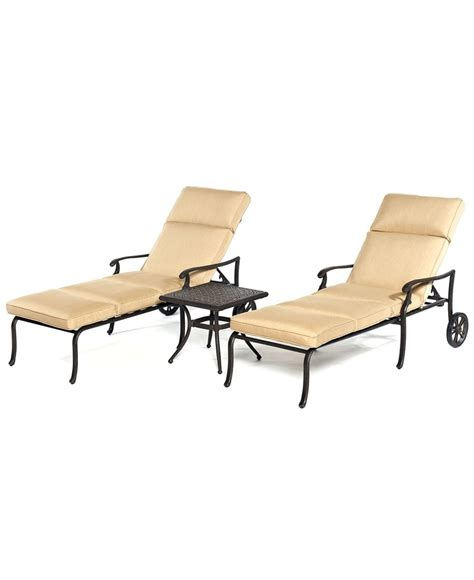 kingsley outdoor 3 chaise set 2 chaise lounges and