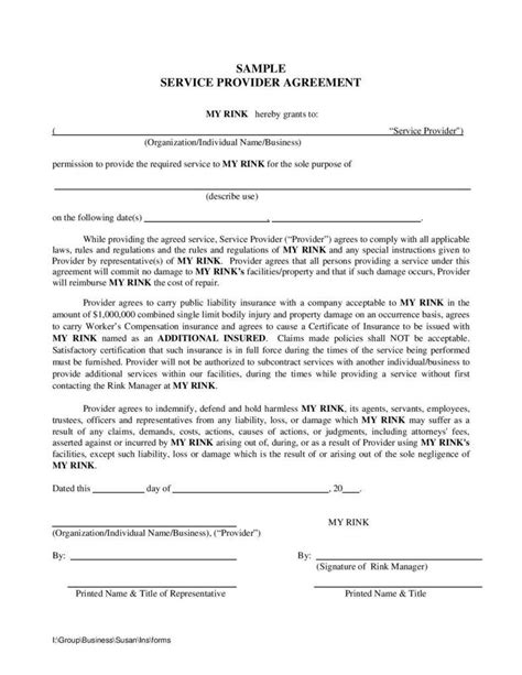 Service Provider Agreement Template by 5 Service Contracts You Can Secure With Big Companies