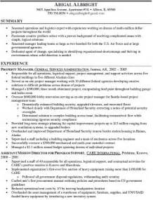 manager resume summary 10 property manager resume sle exle writing resume sle writing resume sle