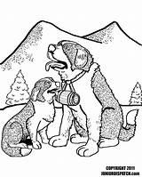 Bernard Coloring Saint Pup Printable Dog Bernards Puppies Getcolorings Designlooter Getdrawings sketch template