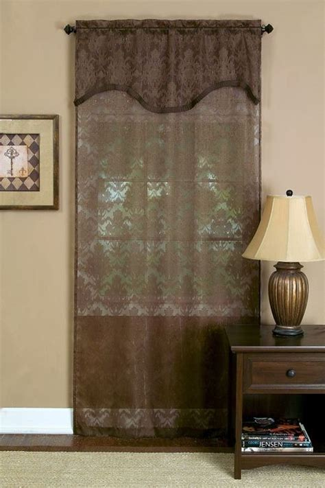 dakota semi sheer curtain panels with attached valance by