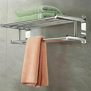 Liphom, Wall, Mount, Towel, Rack, Bathroom, Hotel, Rail, Holder, Stainless, Steel, Towel, Shelf