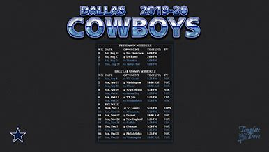 dallas cowboys wallpaper schedule